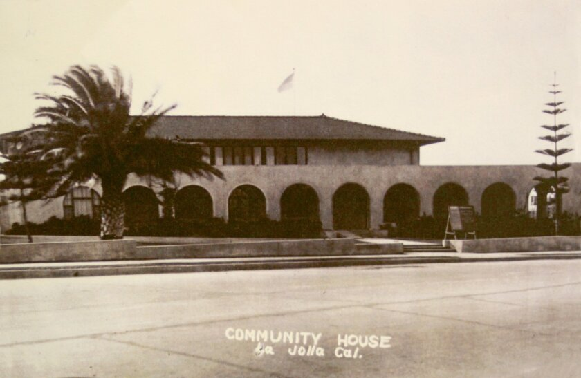 An undated photo of La Jolla Recreation Center, 615 Prospect St. The center will be 100 years old on July 25. Historical Society