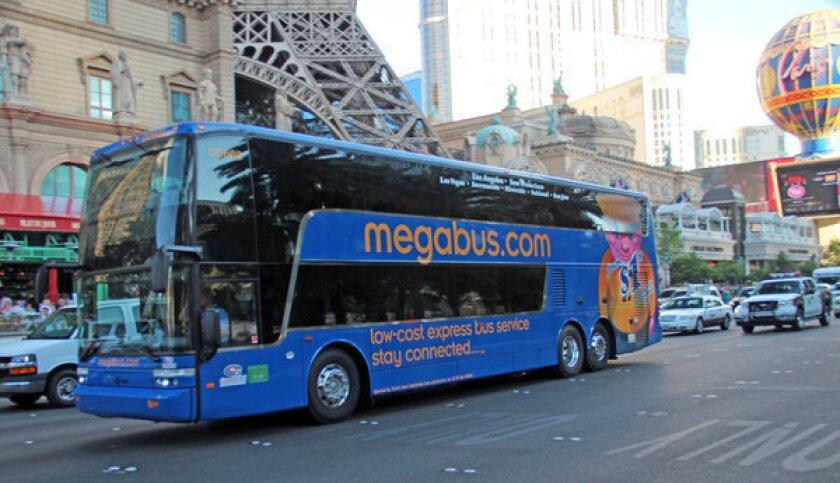 Las Vegas Megabus Is Back On The L A To Vegas Route Los Angeles Times