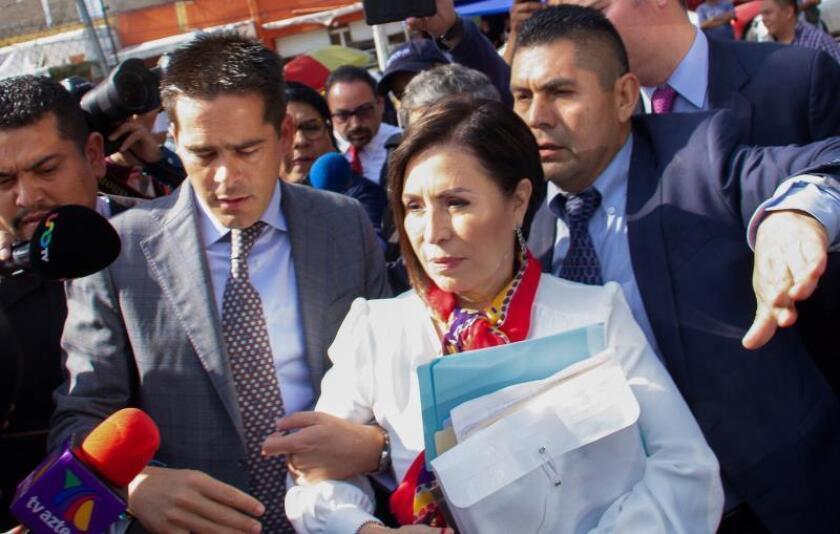 Rosario Robles, exministra en el Gobierno de Enrique Peña Nieto (2012-2018). EFE/Madla Hartz/Archivo