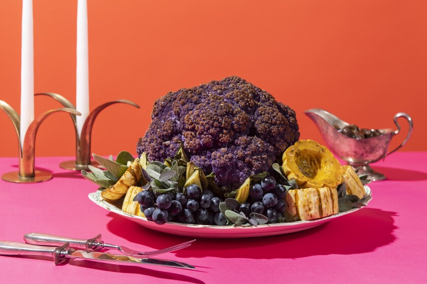 Purple cauliflower looks especially dramatic