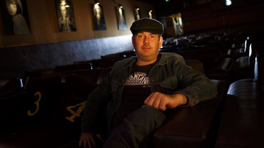 Hadrian Belove, shown in 2013, is out at the Cinefamily after anonymous allegations of sexual miscon