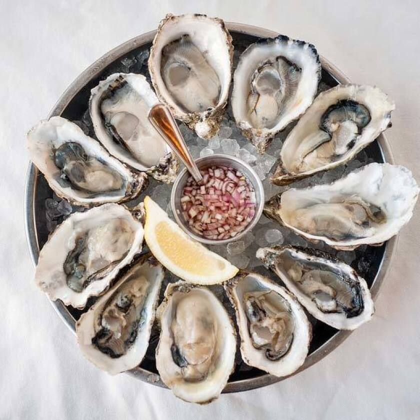 An oyster platter from Ironside Fish & Oyster in Little Italy.