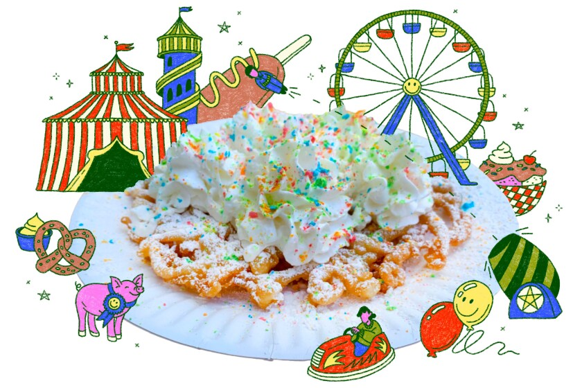 For the Food section, story and recipe on Funnel cake. Photo by Genevieve Ko.