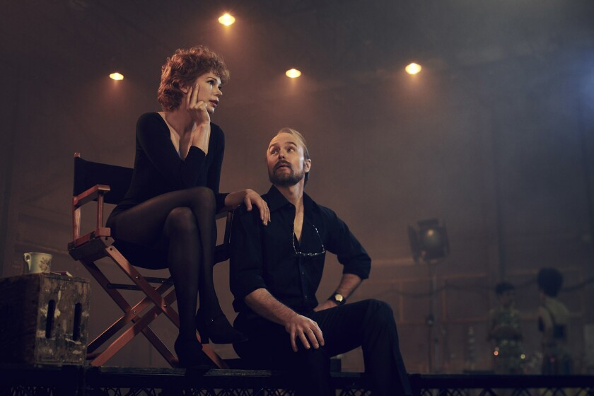 FOSSE VERDON -- Pictured: (l-r) Michelle Williams as Gwen Verdon, Sam Rockwell as Bob Fosse. CR: Par