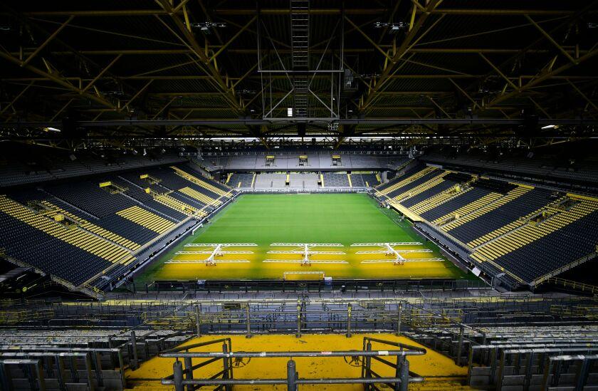 Signal Iduna Park, home of the Bundesliga club Borussia Dortmund.