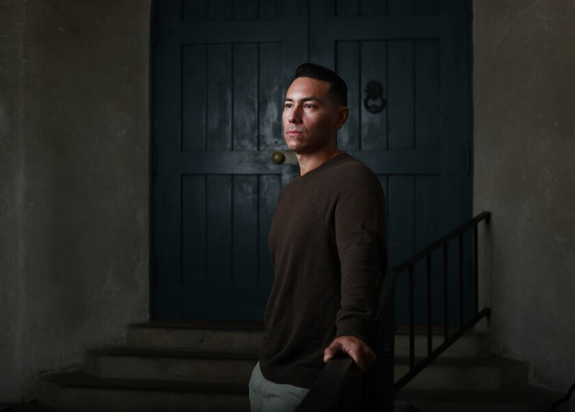 Actor Steven Lone, photographed in Balboa Park