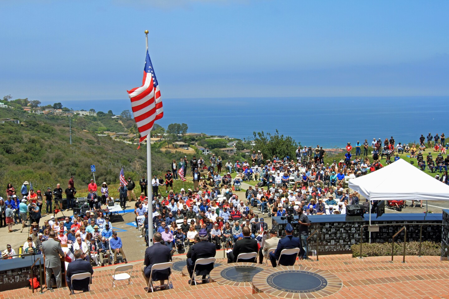 The Memorial Day tribute event held at the Mount Soledad National Veterans Memorial May 31 was also livestreamed online.