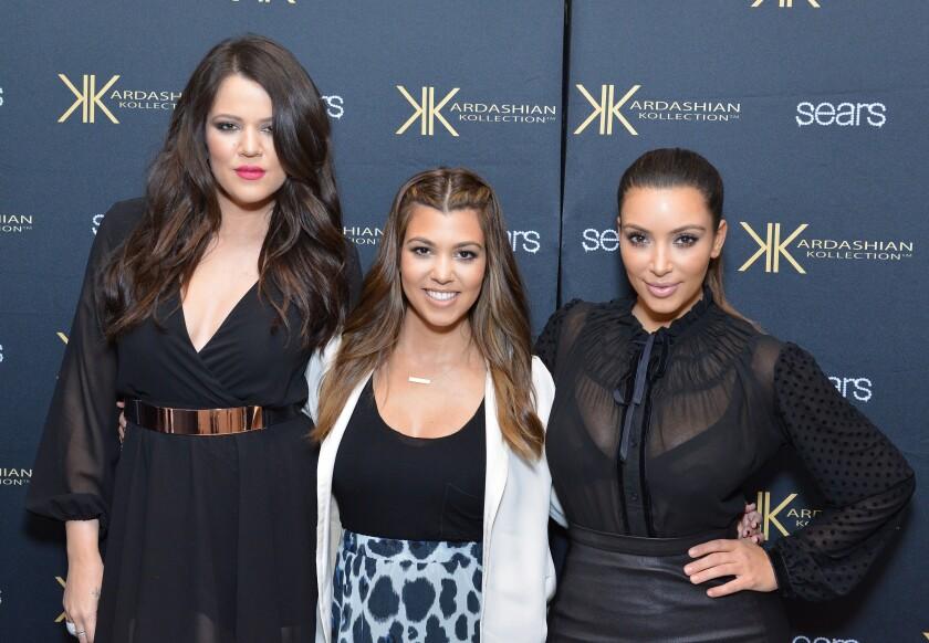 Khloé, Kourtney and Kim Kardashian.