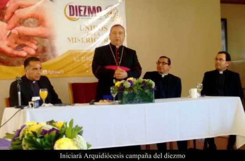 Iniciará Arquidiócesis campaña del diezmo