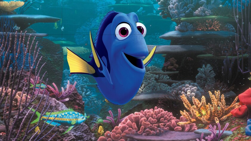 """Ellen DeGeneres voices the lovably forgetful Dory in both """"Finding Nemo"""" and its sequel, """"Finding Dory."""""""