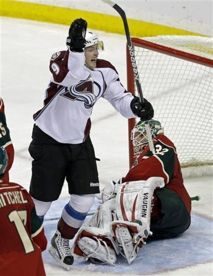 Wild get 3 goals in 2nd period, beat Avalanche 5-3 - The San