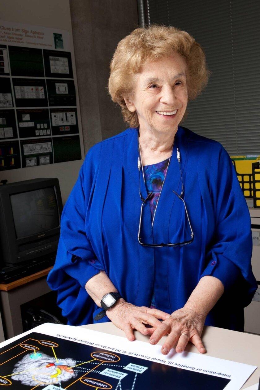 Salk Institute biologist Ursula Bellugi