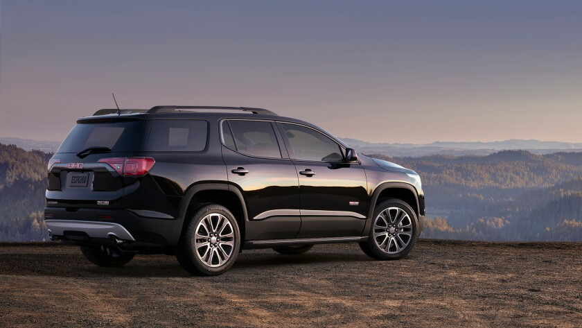 GMC's Acadia Denali AWD is a big-bodied, all-terrain SUV that also functions well as a city car.