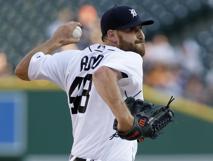 Detroit Tigers' Matt Boyd pitches against the Minnesota Twins during the first inning of a baseball game Monday, July 18, 2016, in Detroit. (AP Photo/Duane Burleson)