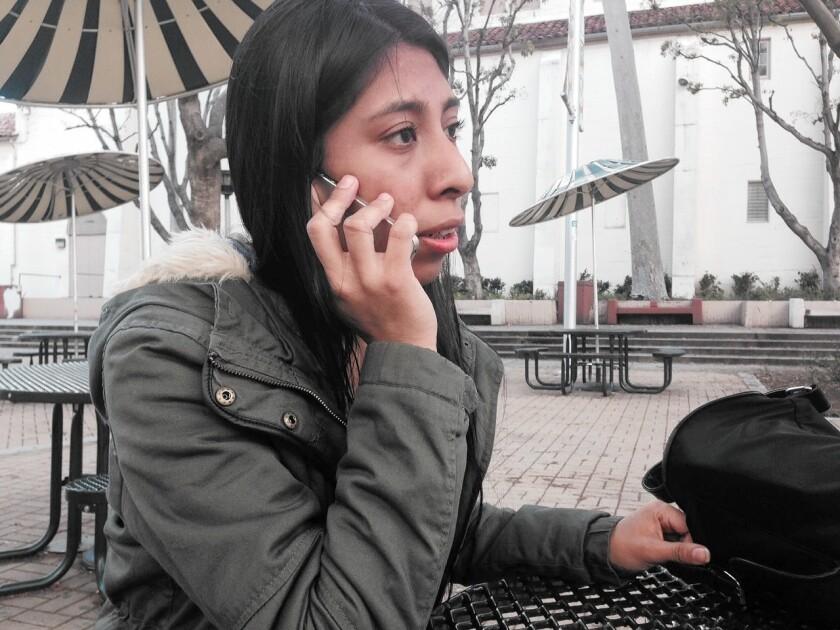 Miriam Antonio, a Fairfax High School student, wants to vote next week but missed the registration deadline.