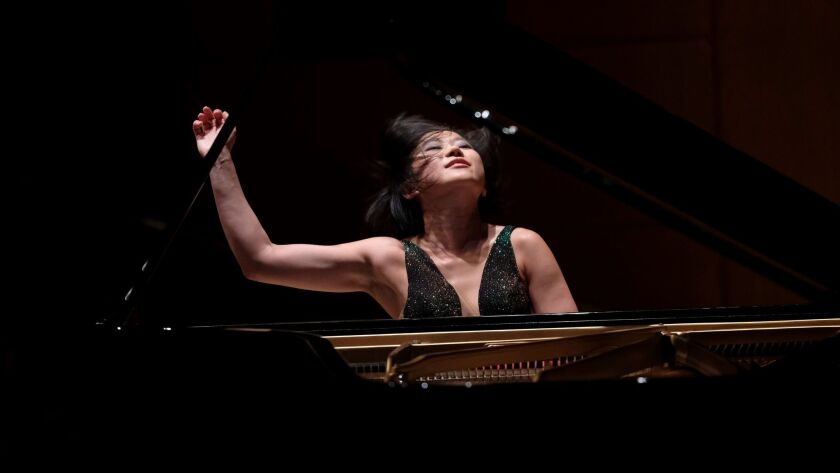 LOS ANGELES, CA JUNE 1, 2017: Yuja Wang plays the last two of Bartók's piano concertos in two prog