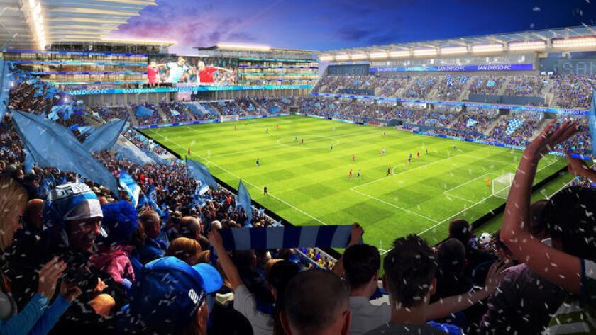 Una de las propuestas que se estudia para el futuro del estadio Qualcomm es su reconversión a un estadio donde se podrían celebrar partidos de futbol profesional.