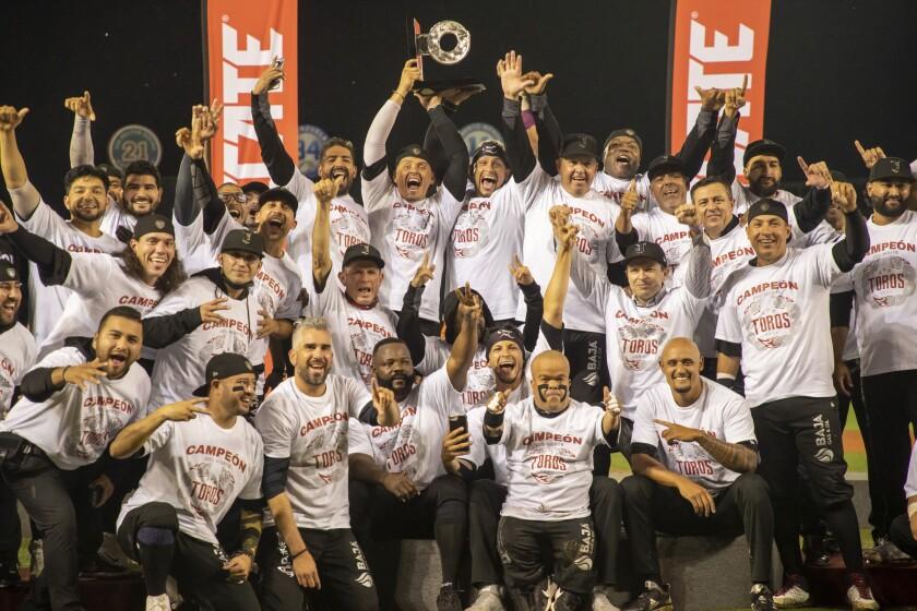 Toros de Tijuana celebra campeonato de la Zona Norte