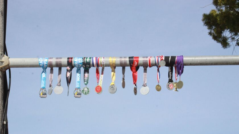 The 'mystery medals' across Draper Avenue
