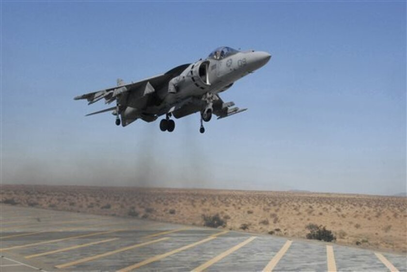 Harrier jet crash caused by oil leak - The San Diego Union