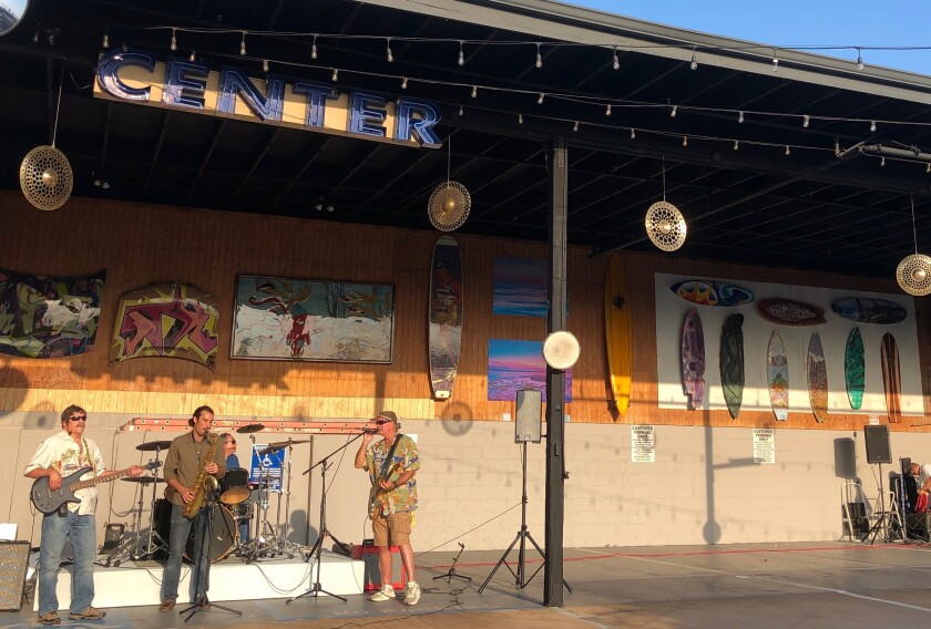 The Art Alley launched Sept. 26 on Cedros Avenue with live music.