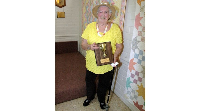 Margaret Hammond received the Glendale News-Press Perpetual Trophy for her volunteer work with the W