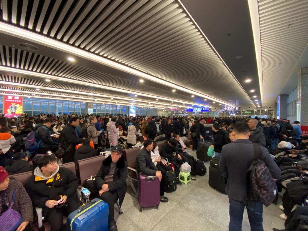 Shanghai rail passengers