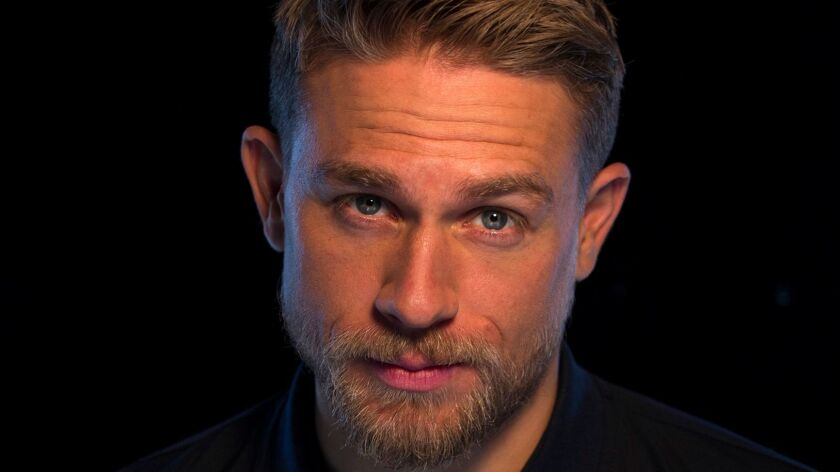 """Charlie Hunnam at the Four Seasons Hotel in Los Angeles. He's starring in James Gray's """"Lost City of Z."""""""