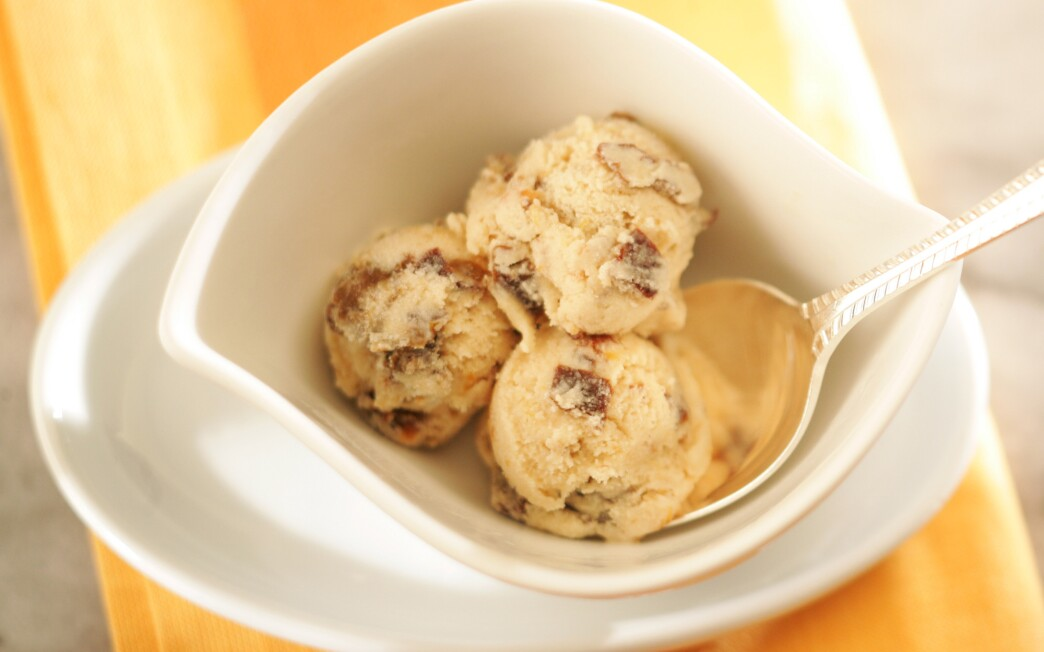 Prune-Armagnac ice cream