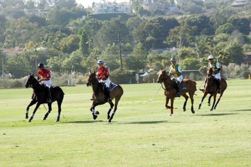 Players at a previous San Diego Polo Club event.
