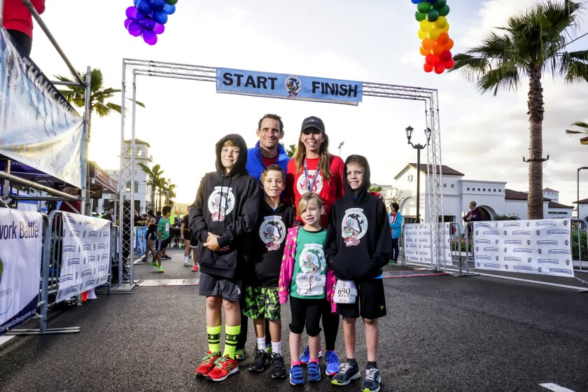 The Wilsey family at the 2015 Carmel Valley 5K.