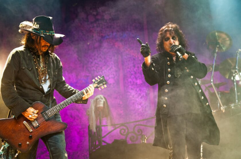 Alice Cooper joined by Johnny Depp at L.A. show