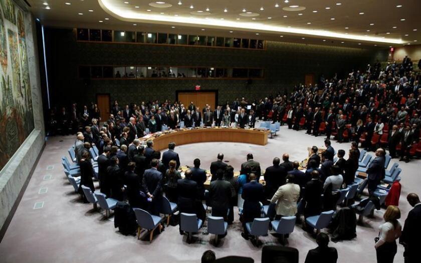 Vista de los miembros del Consejo de Seguridad de la ONU durante una reunión sobre la situación de Oriente Medio y Palestina, en la sede de Naciones Unidas, Nueva York (Estados Unidos). EFE/Archivo