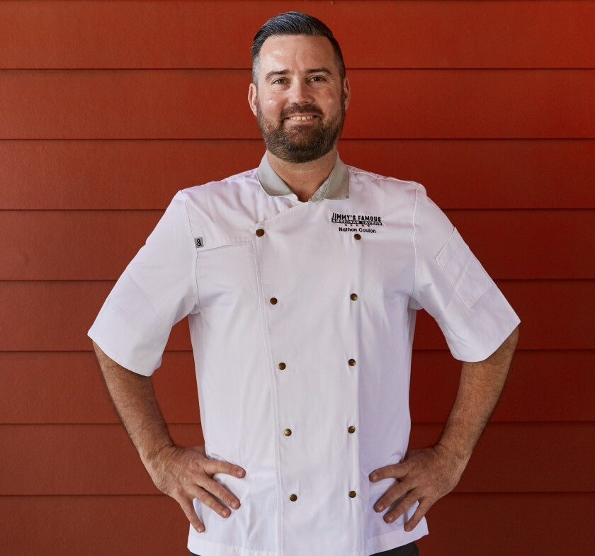 Nathan Coulon, culinary director for Jimmy's Famous American Tavern.
