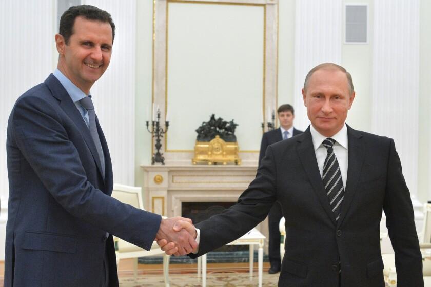 Syrian President Bashar Assad met with Russian President Vladimir Putin in Moscow.