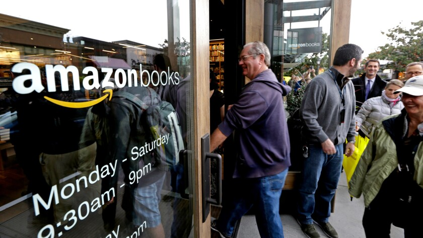 Amazon Books in Seattle. The company is planning another brick-and-mortar shop in Tigard, Ore., about 10 miles from the Powell's Books flagship store in downtown Portland.