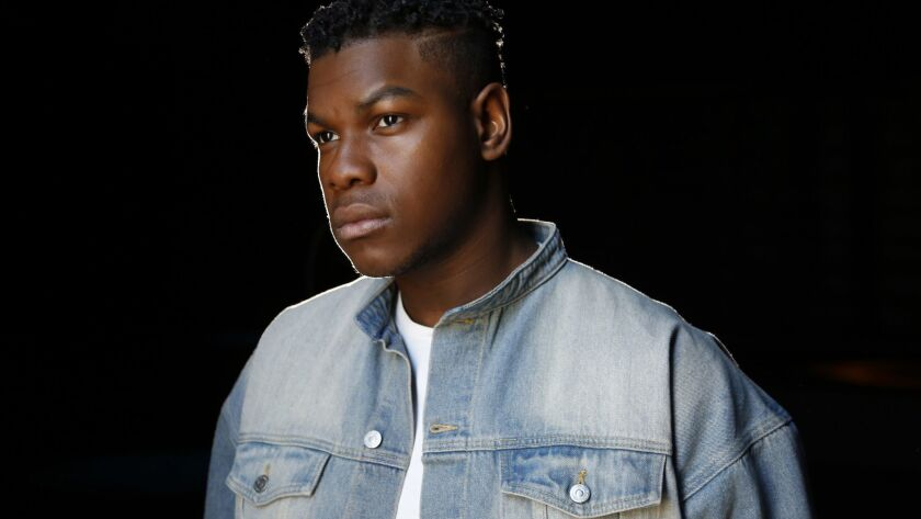 LOS ANGELES, CA-March 5, 2018: Actor John Boyega, who stars in the sci-fi sequel Pacific Rim 2, is