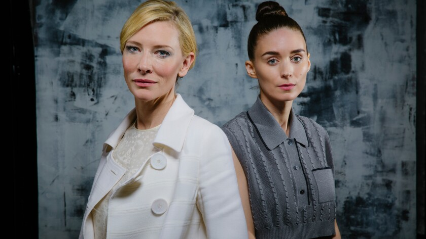 """Cate Blanchett and Rooney Mara star in the Oscar-nominated film """"Carol."""" Delta Air Lines showed an edited version of the film on its planes, sparking charges of homophobia."""