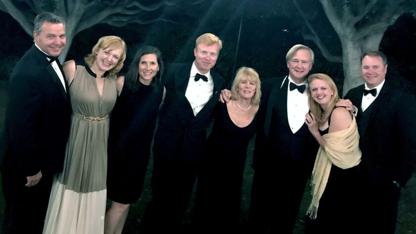 The Annsley and George Strong family have a night out together at an Annandale Country Club event. F