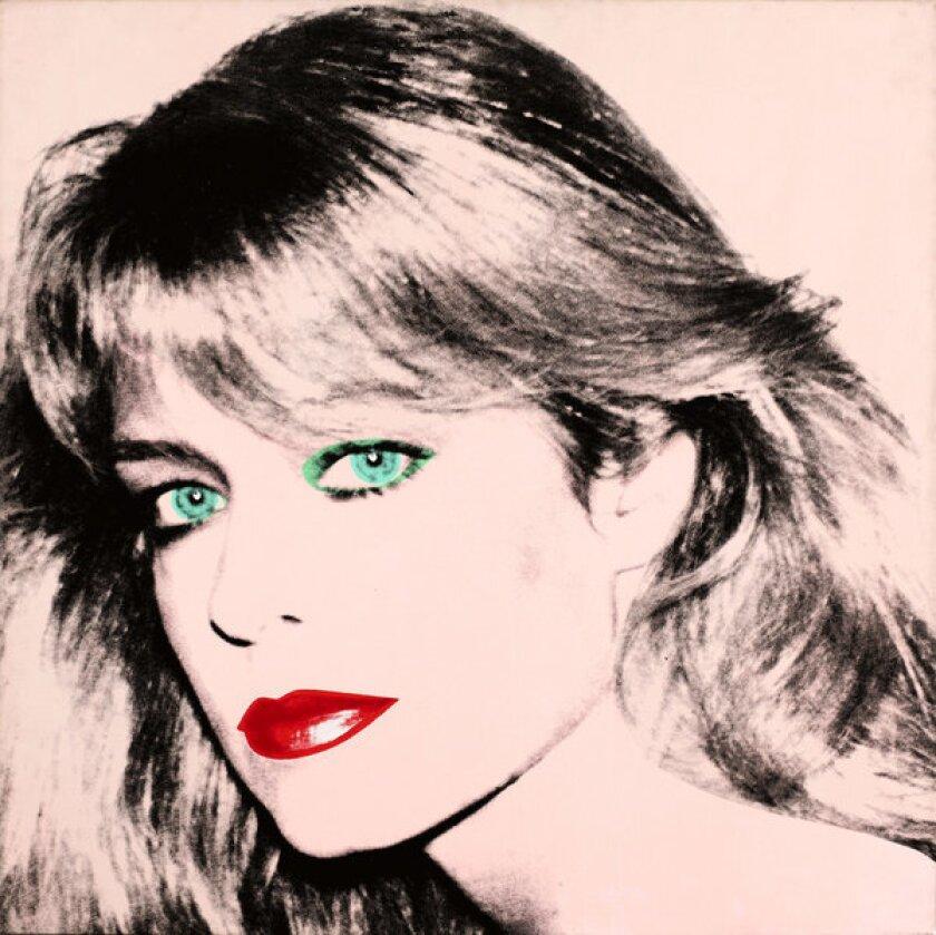 Andy Warhol's portrait of Farrah Fawcett.