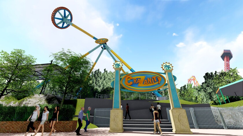 CraZanity, billed as the world's tallest pendulum ride, will open this summer at Six Flags Magic Mountain in Valencia.