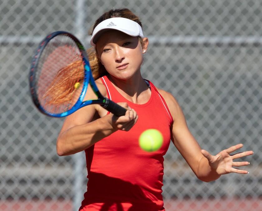 Mt. Carmel senior Amanda Letzring reached the San Diego Section girls singles semifinals last season.