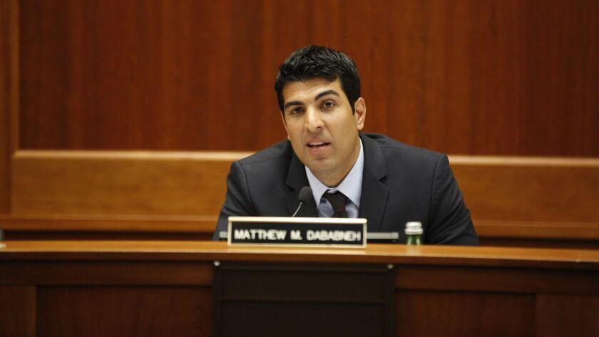 Former Assemblyman Matt Dababneh (D-Woodland Hills) at a legislative hearing in Calabasas in 2016.