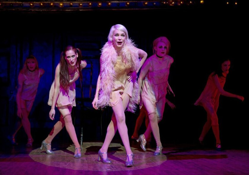"""Michelle Williams plays Sally Bowles in """"Cabaret"""" at Studio 54 in New York."""