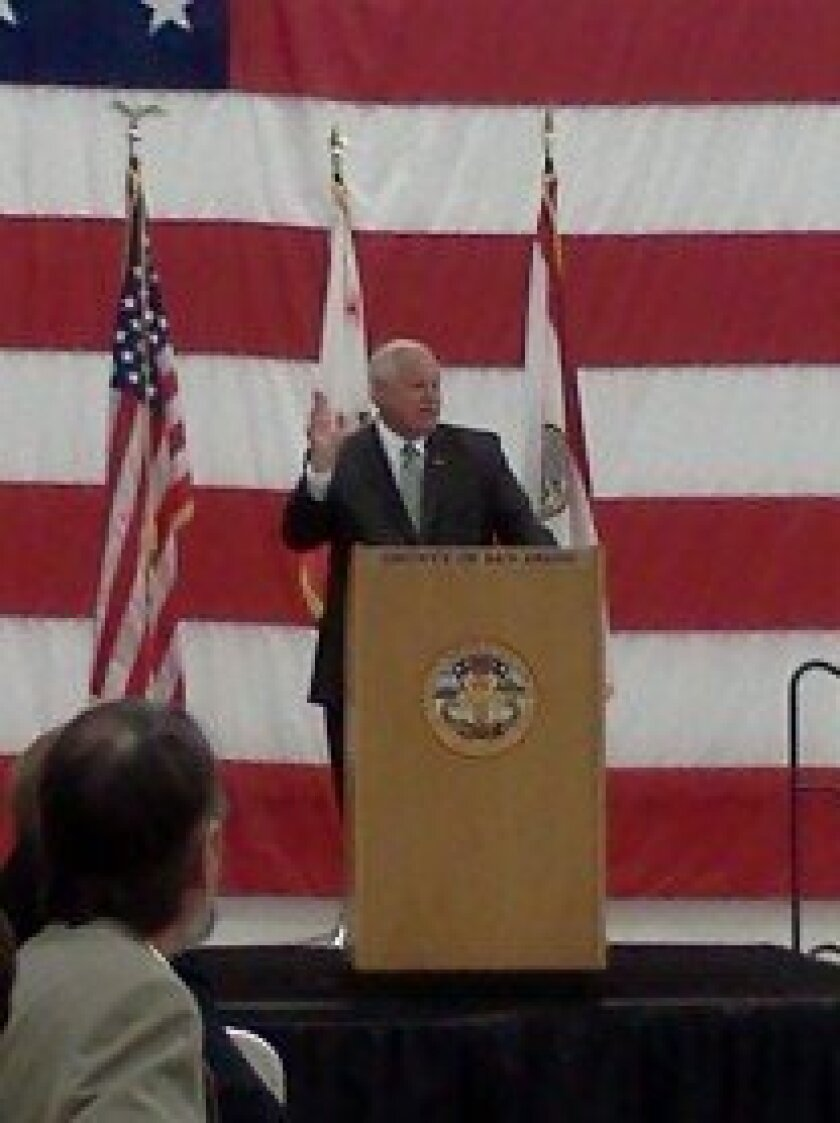 """Fifth District County Supervisor Bill Horn delivered his 18th annual """"State of North County"""" address on Thursday, March 14"""