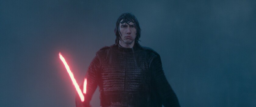 """Adam Driver as Kylo Ren in """"Star Wars: The Rise of Skywalker,"""" which will begin streaming on Disney+ on May 4."""