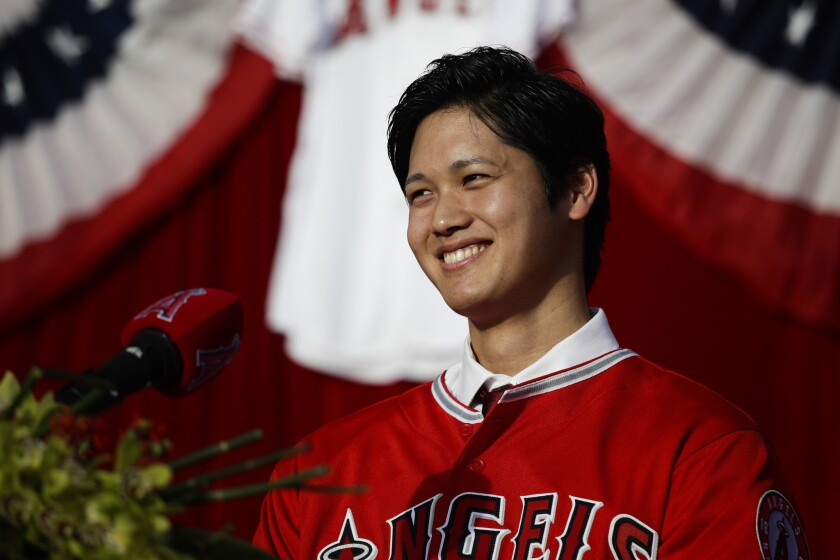 A first-degree ligament strain in two-way player Shohei Ohtani's right elbow is not a major concern for the Angels.