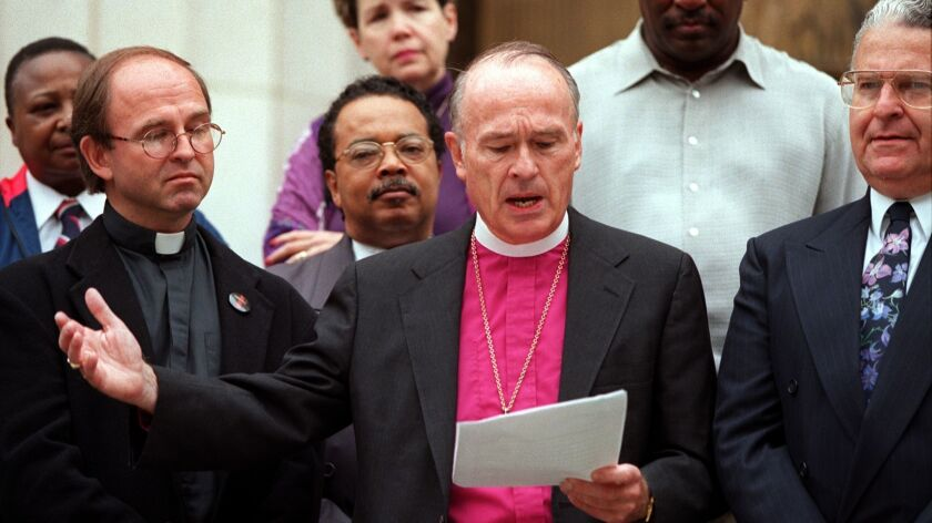 Then-Bishop Frederick Borsch of the Episcopal Diocese of Los Angeles describes the violent 1998 deat