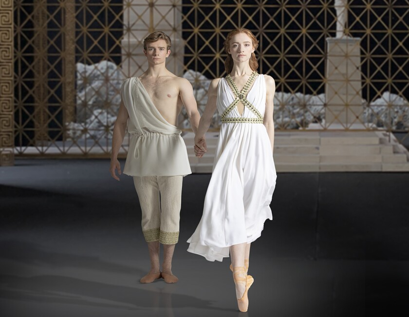 """Catherine Hurlin and Aran Bell are among the featured dancers in the world premiere of American Ballet Theatre's """"Of Love and Rage"""" at Segerstrom Center."""