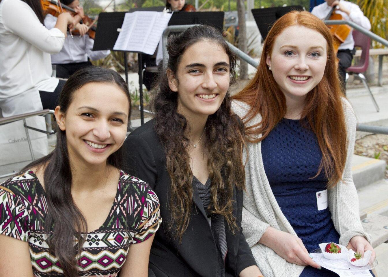 Solana Garcia (Del Mar/Solana Beach Optimist Club Award), Nicole Martindale (Cardinal and Gold Service Scholarship), Mary Maas (Pardee Homes Award)
